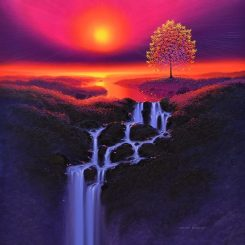 Tree of Light and Violet Cascade