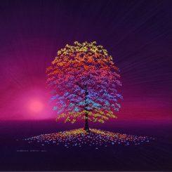 Rainbow Tree and Magenta Sky