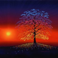 Rainbow Tree at Dawn