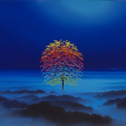 Rainbow Tree Misty Moorland
