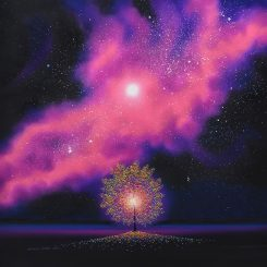 Tree of Light and Magenta Nebula