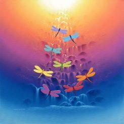 Rainbow Dragonflies