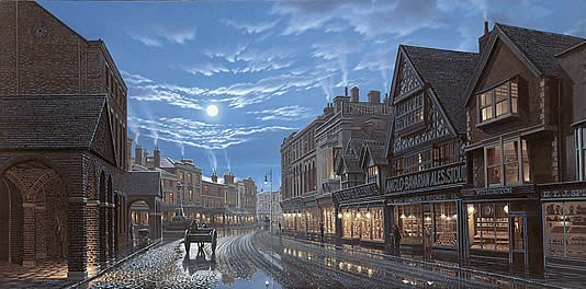 Old Taunton by Lamplight
