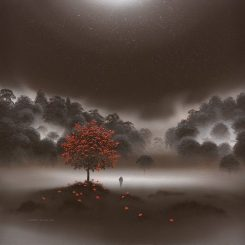 Home through Moonlit Mist, brown square