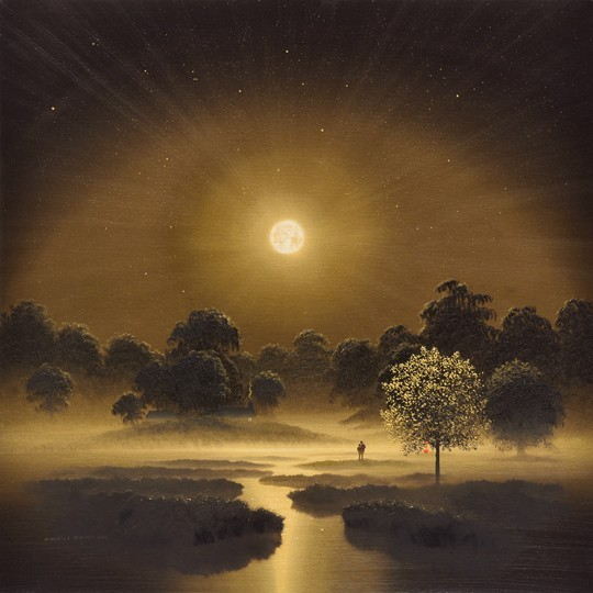 Golden Tree in the Moonlight