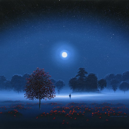 Home through Moonlit Poppies, square