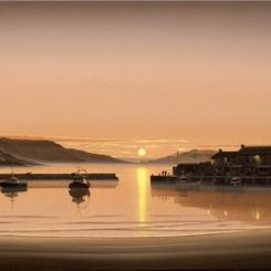 Sunrise at Lyme Regis