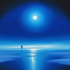 Together on a Moonlit Shore, blue square