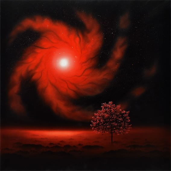 Tree and Red Nebula